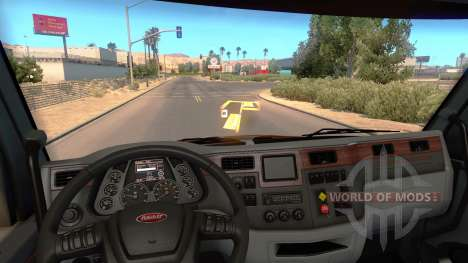 The hologram of the minimap for American Truck Simulator