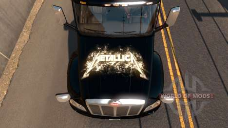 Skin Metallica for Peterbilt 579 for American Truck Simulator