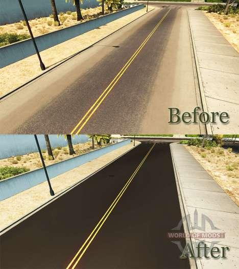 Dark asphalt for American Truck Simulator