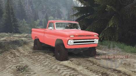 Chevrolet C30 1966 [orange] v1.1 [16.12.15] for Spin Tires