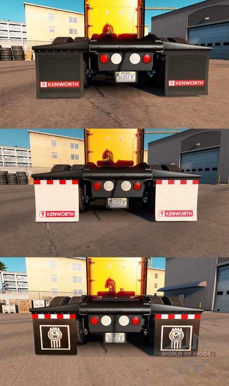 HD mud flaps for American Truck Simulator