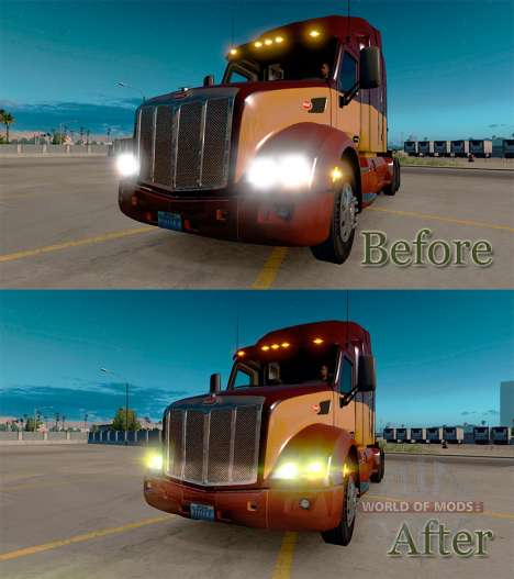 Yellow lights for American Truck Simulator