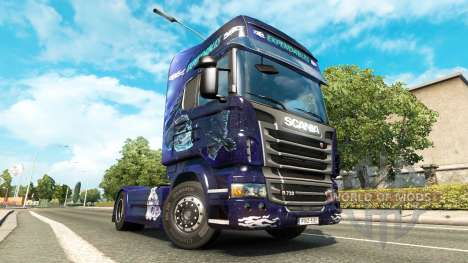 Expendables skin for Scania truck for Euro Truck Simulator 2