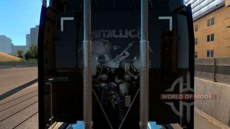 Skin Metallica for Peterbilt 579 for American Truck Simulator