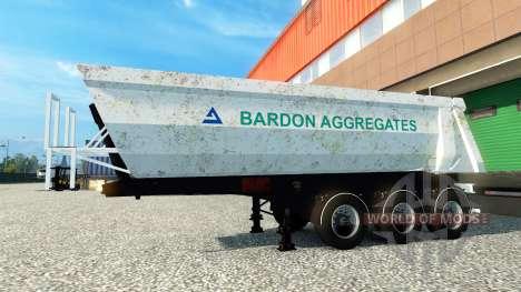Bardon Aggregates skin on the trailer for Euro Truck Simulator 2