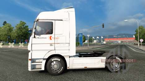 Skin Klaus Bosselmann on the tractor unit Merced for Euro Truck Simulator 2