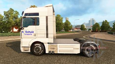 Skin A. Schulz on the truck MAN for Euro Truck Simulator 2