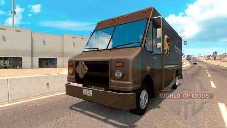 Real brands in vans from traffic for American Truck Simulator