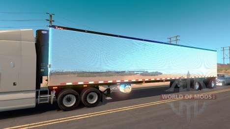 Chrome trailer for American Truck Simulator