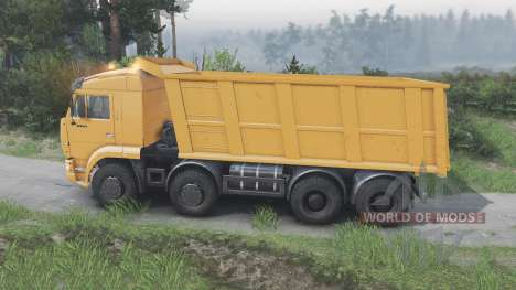 KamAZ-65201 [orange][08.11.15] for Spin Tires