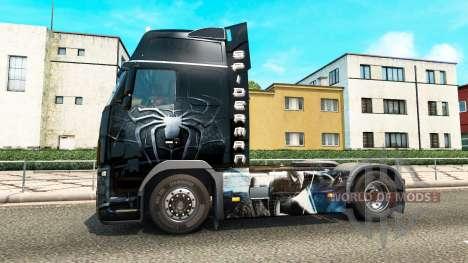 Spiderman skin for Volvo truck for Euro Truck Simulator 2