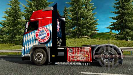 Skin FC Bayern Munchen on a Volvo truck for Euro Truck Simulator 2