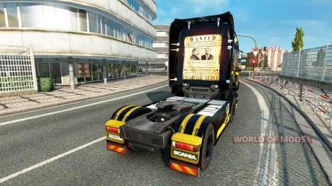 Al Capone skin for Scania truck for Euro Truck Simulator 2