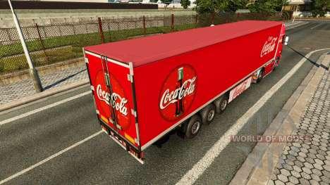 Skin Coca-Cola Volvo tractor for Euro Truck Simulator 2