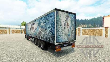 Skin Gerolsteiner on the trailer for Euro Truck Simulator 2
