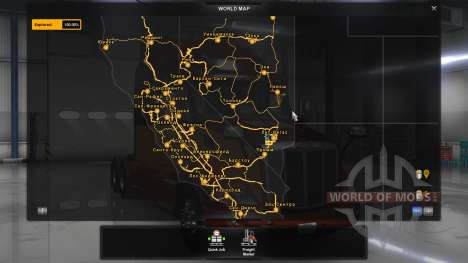 Russian names of cities for American Truck Simulator