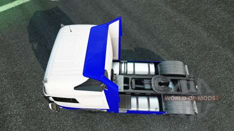 Skin Blue-White in the Volvo for Euro Truck Simulator 2