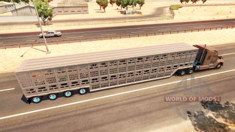 The animal transport semi-trailer for American Truck Simulator