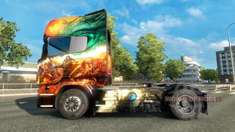 The Guild Wars 2 skin for Scania truck for Euro Truck Simulator 2