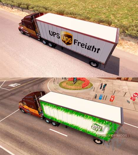 Trailers UPS and Green City for American Truck Simulator