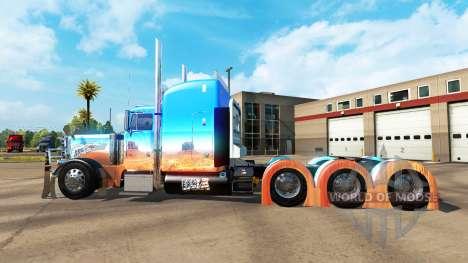 Skin Caveira on tractor Peterbilt 379 for American Truck Simulator