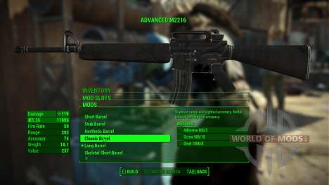 Assault rifle M226 for Fallout 4
