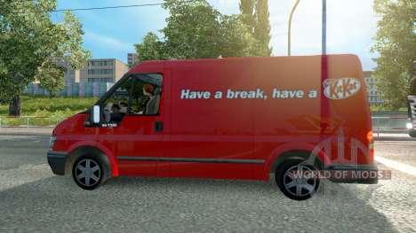Ford Transit KitKat for Euro Truck Simulator 2