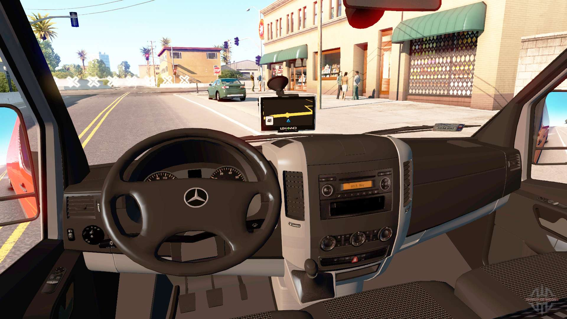 mercedes benz sprinter lwb for american truck simulator. Black Bedroom Furniture Sets. Home Design Ideas