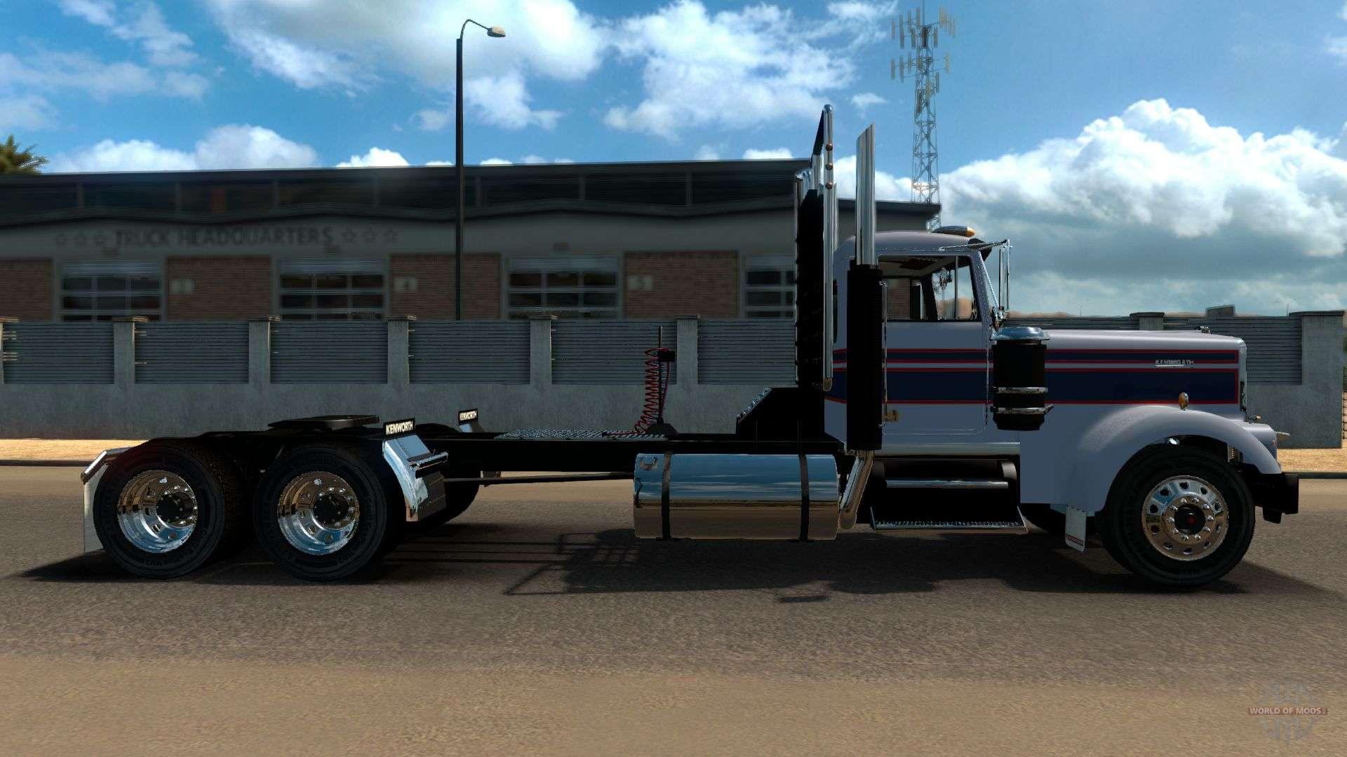 kenworth w900a for american truck simulator. Black Bedroom Furniture Sets. Home Design Ideas