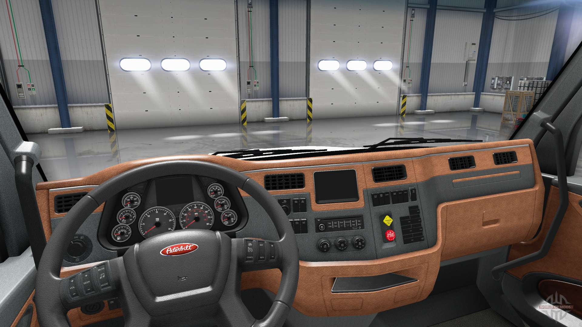 Updated interior in a Peterbilt 579 for American Truck ...