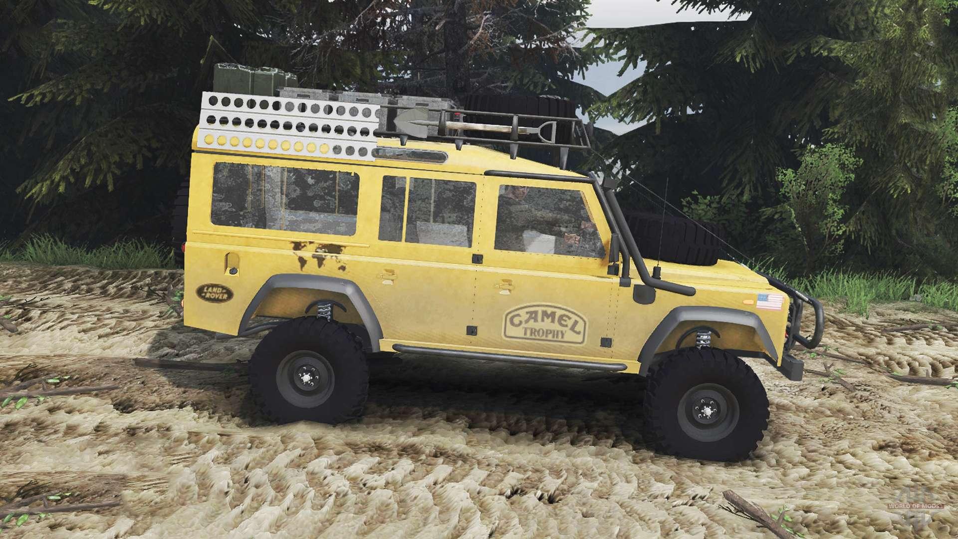 Land Rover Defender 110 Camel Trophy 25 12 15 For Spin Tires