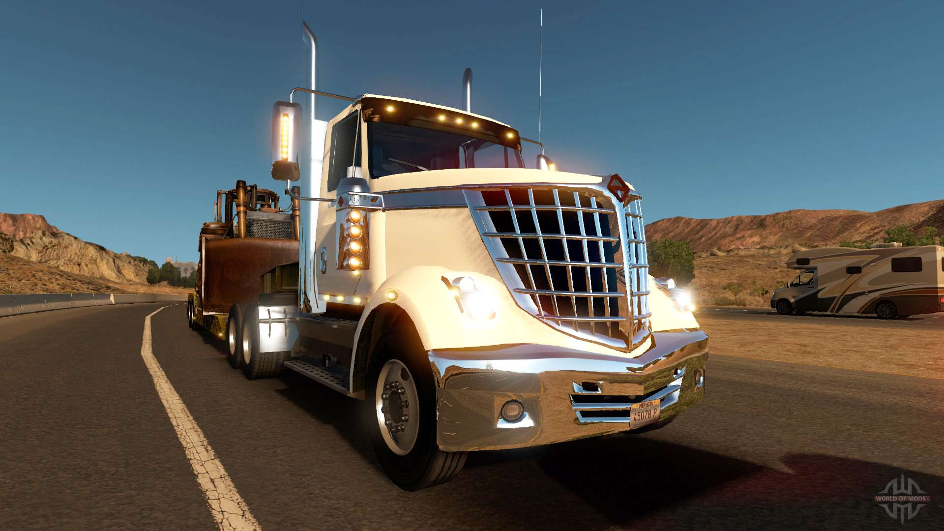 international lonestar in traffic for american truck simulator. Black Bedroom Furniture Sets. Home Design Ideas