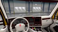 White Kenworth T680 interior