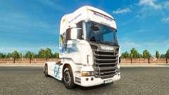 Bavaria Express skin for Scania truck for Euro Truck Simulator 2