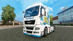 Skin Bavaria Express on the truck MAN for Euro Truck Simulator 2