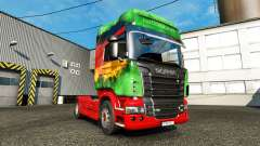 The skin Lower on the tractor unit Scania