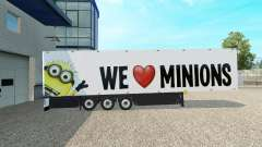 Minion Fan skin v2.0 on the semi-trailer