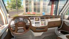 The new color Peterbilt 579 interior