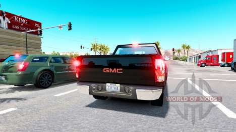 Real nameplates for traffic for American Truck Simulator