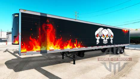Refrigerated semi-trailer Trucking Reaper for American Truck Simulator