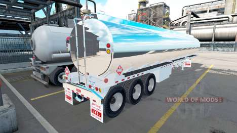 The chrome-plated tank semitrailer Heil [3 axles for American Truck Simulator
