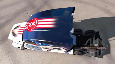 Skin U. S. A. Eagle on a Kenworth tractor for American Truck Simulator