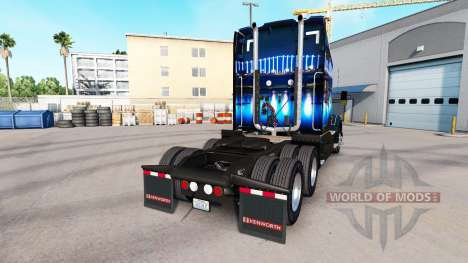 The skin San Francisco Bridge on a Kenworth trac for American Truck Simulator