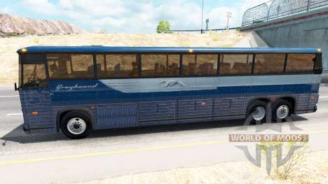 Skin on Greyhound bus for American Truck Simulator