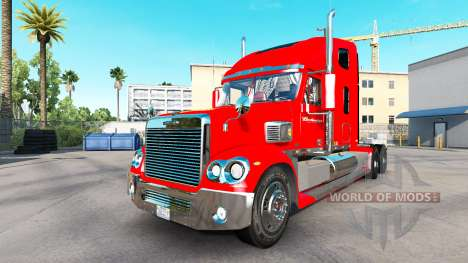 The skin on the Budweiser tractor Freightliner C for American Truck Simulator