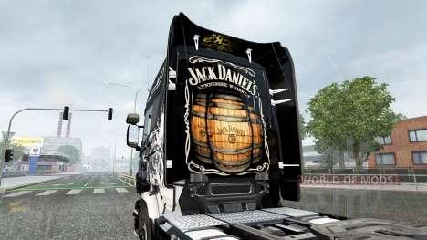 The Jack Daniels Birthday skin for Scania truck for Euro Truck Simulator 2