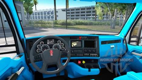 Blue Kenworth T680 interior for American Truck Simulator