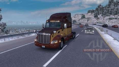 Winter mod (Frosty Winter Weather Mod v1.0) for American Truck Simulator