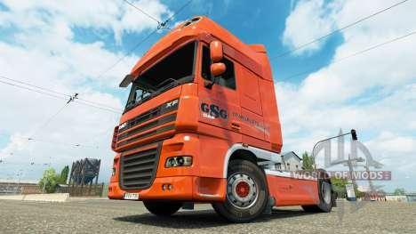 GSG skin for DAF truck for Euro Truck Simulator 2