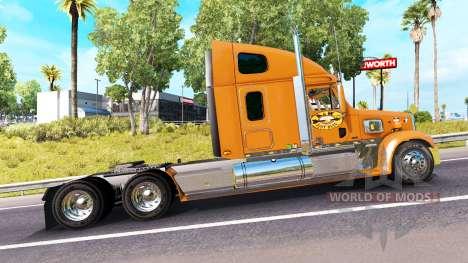 Skin A&W on the truck Freightliner Coronado for American Truck Simulator